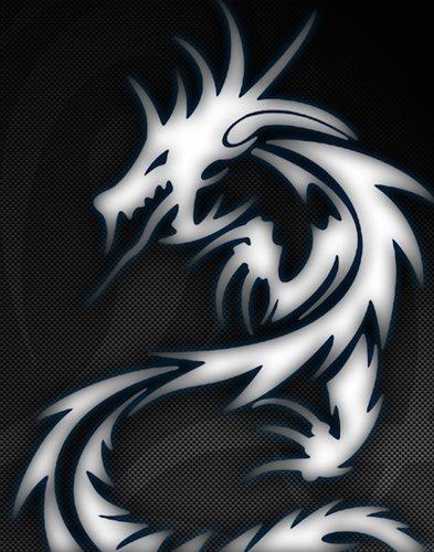 JWraps White Tribal Dragon Custom E-Cigarette Protective Vinyl Skin Wrap for Pioneer4you IPV4 100 WATT MOD Vaporizer