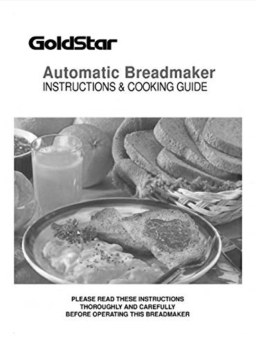 Goldstar Pan máquina eléctrica manual de instrucciones y recetas ...