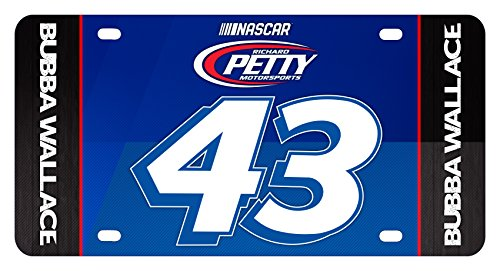 Bubba Wallace #43 Metal License Plate