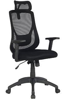 VIVA OFFICE Silla ergonómica para ordenador con respaldo alto de ...
