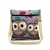 Women Shoulder Bags, Hmlai 2018 New Embroidered Owl Tote Bags Women Shoulder Bag Handbags Postman Package (G)