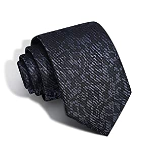 Men's Tie Jacquard Silk Necktie Classic Woven Elegant Neck Ties for Christmas