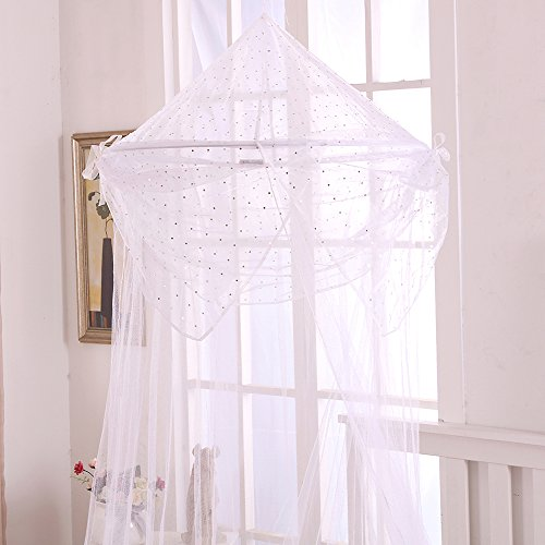 (Fantasy Kids Raisinette Kids Collapsible Hoop Sheer Bed Canopy, One Size, White)