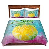 DiaNoche Designs Pineapple Home Decor, Bedroom and Bedding Ideas Cover, 8 King Duvet Sham Set