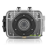 Orbo® NR22 Extreme Sports Action Camera HD Video 4x Digital Zoom Camcorder. Up To 32GB External Memory Dashboard Dashcam - Extreme Sports Package For Hands-Free Action Recording & Waterproof Case Included.