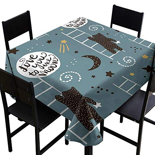- Elegance Engineered Tablecloth Seamless childish pattern with bears stars and moon Creative kids texture for fabric wrapping textile wallpaper apparel Vector illustration Great for Buffet Table W36