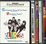 Kevin Smith DVD Collection (5) Movies Clerks 1 & 2, Mallrats, Jay and Silent Bob Strike Back, and Chasing Amy