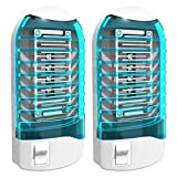Bug Zapper Electronic Insect Killer[2-Pack] Mosquito Killer Lamp,Eliminates Most Flying Pests! Night Lamp(Blue)