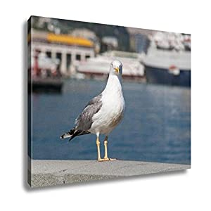 Ashley Canvas Seagull On The Railing Of The Embankment Yalta UKraine, Wall Art Home Decor, Ready to Hang, Color, 16x20, AG5884381