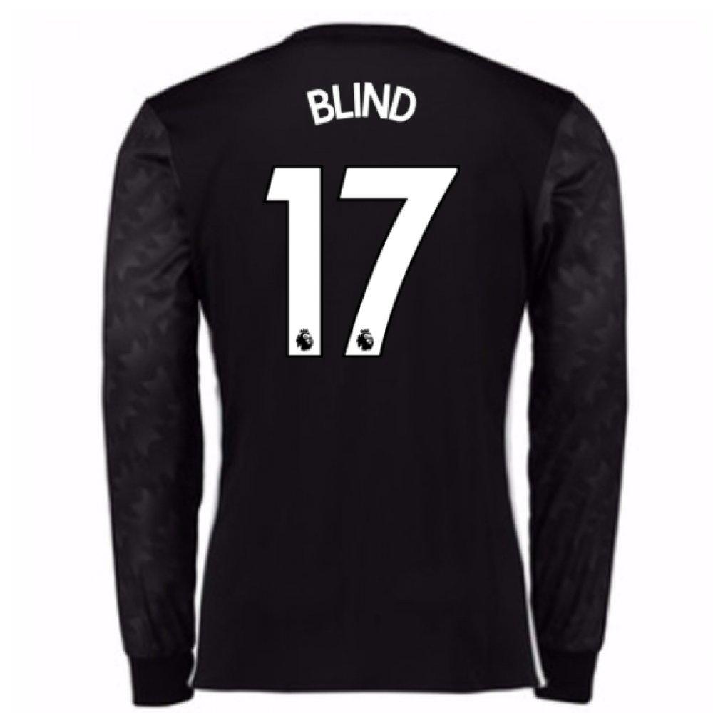 2017-18 Man Utd Away Long Sleeve Football Soccer T-Shirt Trikot (Kids) (Daley Blind 17)