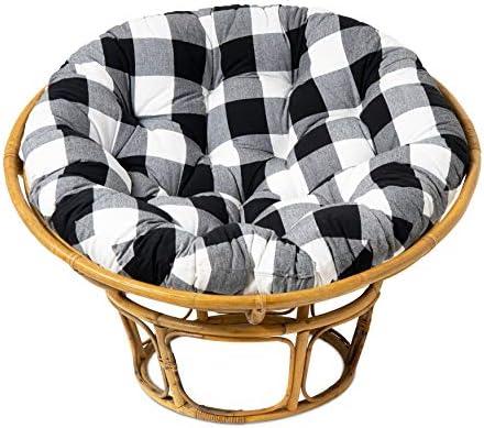 COTTON CRAFT Countryside Buffalo Check Papasan Chair Cushion
