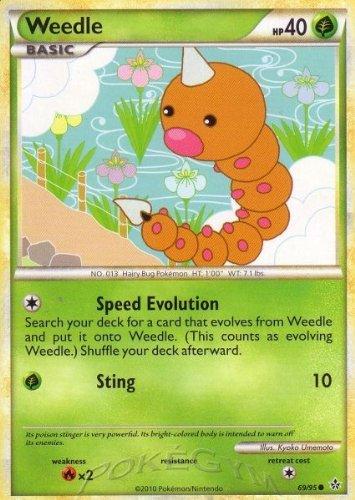Pokemon - Weedle (69/95) - HS Unleashed - Reverse Holo