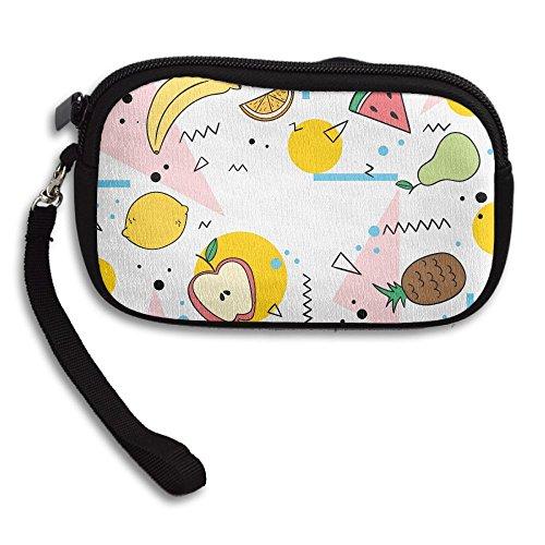 (Various Fruits Women Girls Cute Fashion Change Pouch Key Holder Snacks Coin Purse Wallet Bag)