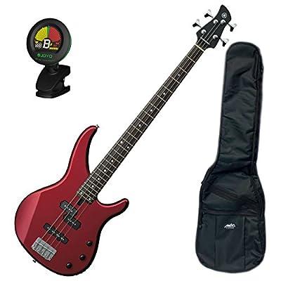 Yamaha TRBX174 RM TRBX-174 Metallic Red 4 String Bass Guitar w/ Gig Bag and Tuner