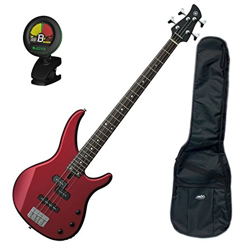 Yamaha TRBX174 RM TRBX-174 Metallic Red 4 String Bass Guitar w/ Gig Bag and Tuner
