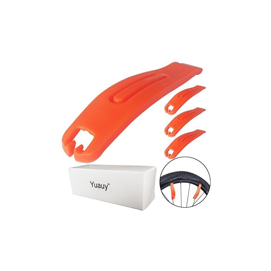 Yuauy 3 PCs Bicycle Tire Lever Orange Premium Hardened Plastic Levers to Repair Bike Tube Cycling Repair Tool