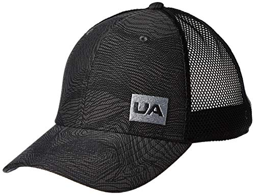 Under Armour Men's Blitzing Trucker 3.0 Cap, Jet Gray (010)/Steel, One Size Fits all