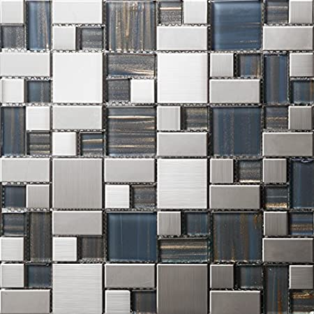china high quality metal mosaic tiles supplier luxury glass mix