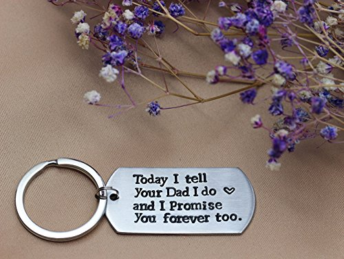 Ms. Clover Blended Family Stepson Stepdaughter Wedding Gift, Bride's Son Groom's Son Marriage Keychain by Ms. Clover (Image #5)