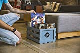 Crosley AC1004A-TN Record Storage Crate Holds up to 75 Albums, Tourmaline