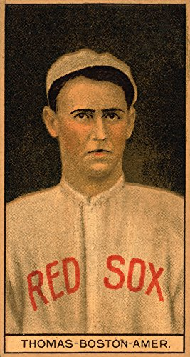 Boston Red Sox - C. D. Thomas - Baseball Card (16x24 SIGNED Print Master Giclee Print w/Certificate of Authenticity - Wall Decor Travel ()