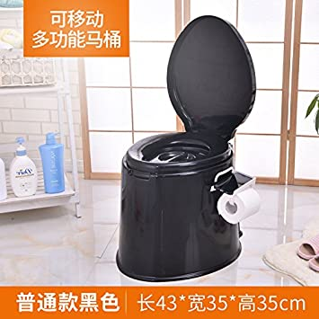 6ad2c995e26 OEM 5L Portable Camp Toilet Flush Travel Camping Hiking Outdoor Indoor Potty  Commode black colorj  Amazon.co.uk  Sports   Outdoors