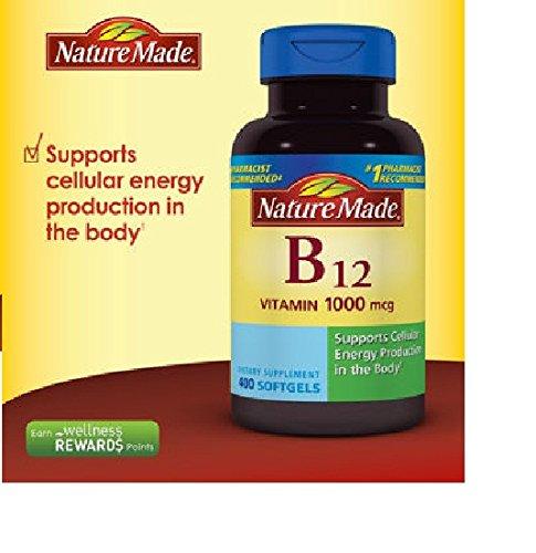 Nature Made Vitamin B-12 1000mcg 400 Softgels Nature B-12 Vitamins