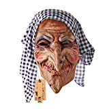 Hyaline&Dora Old Witch Face Masks For Halloween Masquerade Cosplay Party