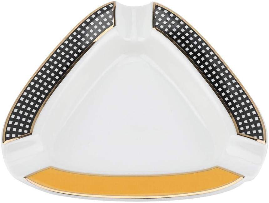 Cigar Ashtray Portable Mini Ceramics Triangle Shape Travel Aluminium Alloy Metal Cigar Ashtray Cinder Holder Orange
