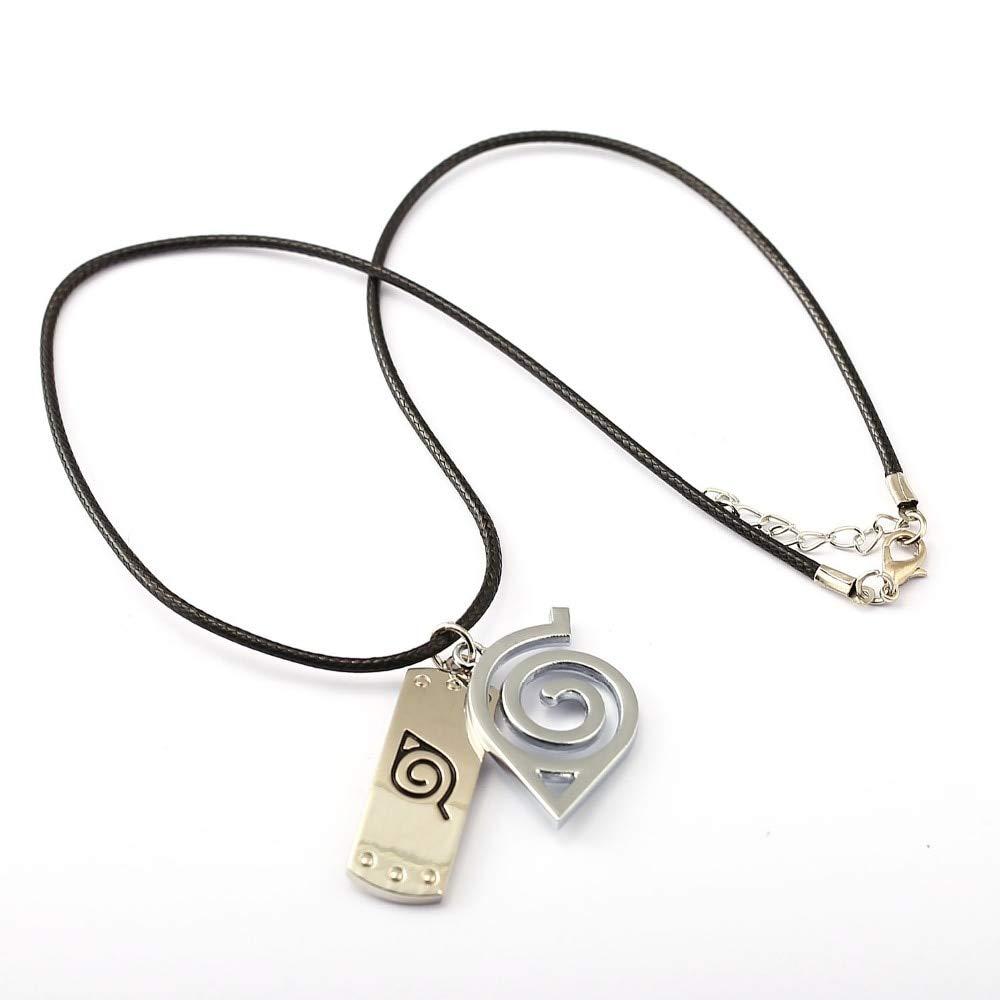 Inveroo Choker Necklace Leaves Ninja Headband Pendant Men Women Gift Anime Jewelry Accessories