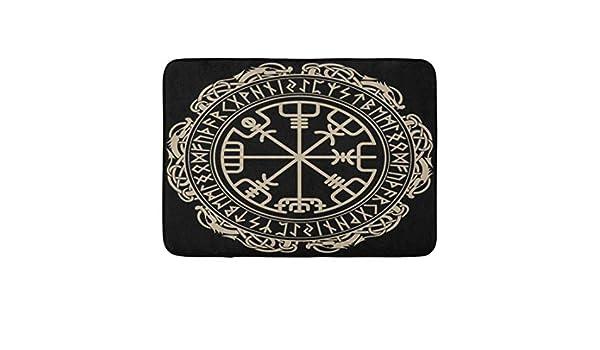 Zhengzho Alfombras Antideslizantes Celtic Viking Mágica Rúnica ...