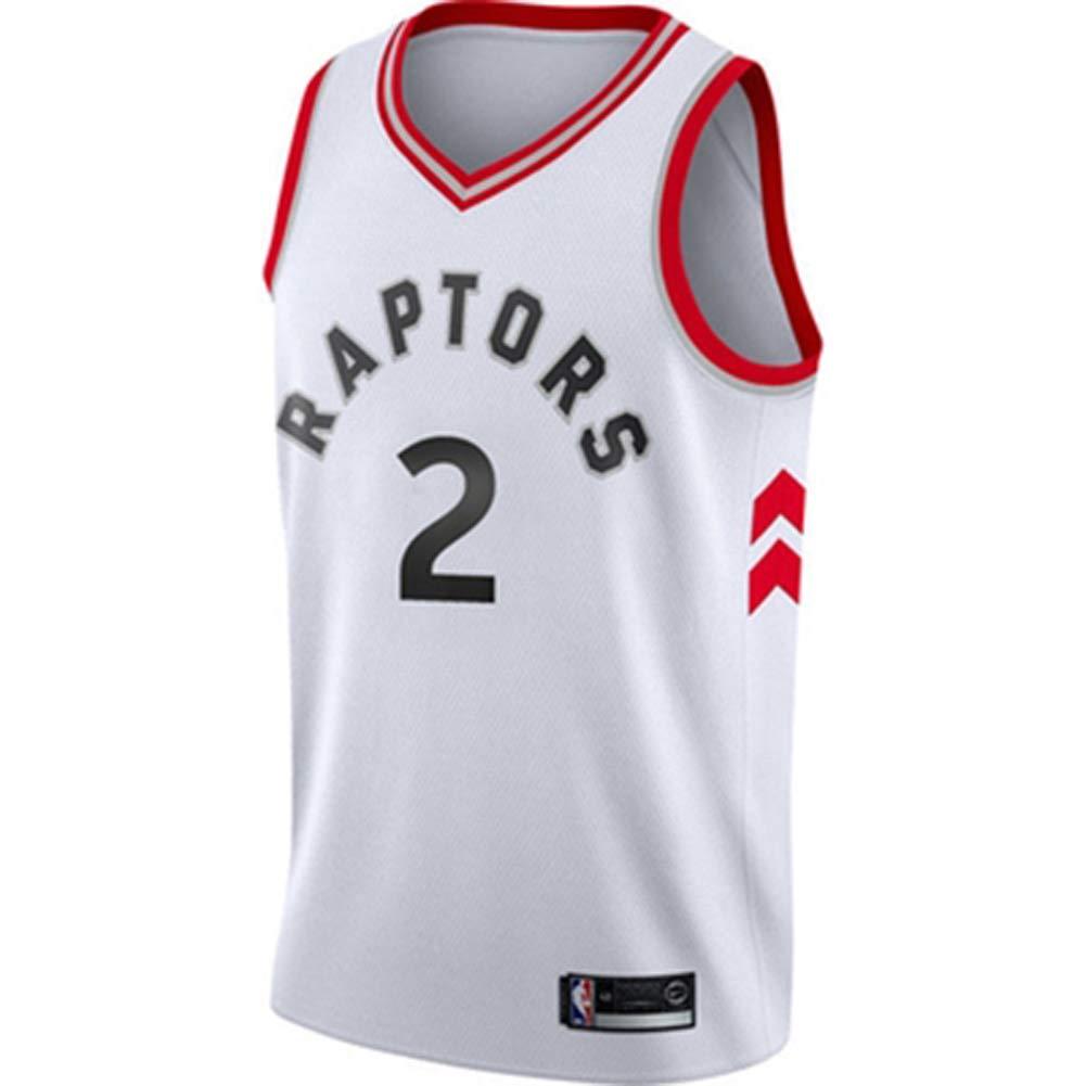 Kawhi Leonard # 2 Maillots de Basketball pour Hommes Maillots de Maillot de Basketball Maillots pour Hommes athl/étiques et r/éversibles Sports Toronto Raptors /Équipe sous Licence Officielle