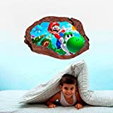Super Smash Bros Mario Characters 3D Window Rock Decal Wall Sticker Art Mural a