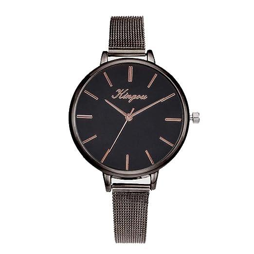 DAYLIN Relojes Mujer Moda Reloj Pulsera Actividad Reloj Analógico de Cuarzo Acero Inoxidable Relojes para Mujer Joyas Regalos para Mujer Reloj Negro: ...