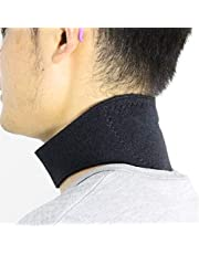 Neck Support Brace Strap Magnets Therapy Adjustable Cervical Collar Self Heating Tourmaline Pain Relief Belt, L