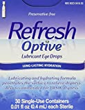 Refresh Optive Lubricant Eye Drops Single-Use Vials