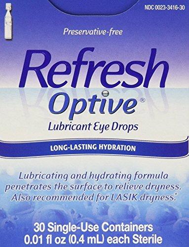 Refresh Optive Lubricant Eye Drops Single-Use Vials