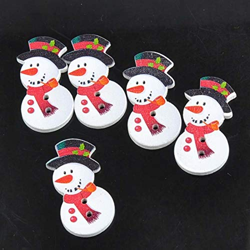 Maslin 50pcs 2 Holes Snowman Wooden Buttons Artesanato Sewing Handmade DIY Scrapbooking Crafts Accessories18x23mm MT0852 -