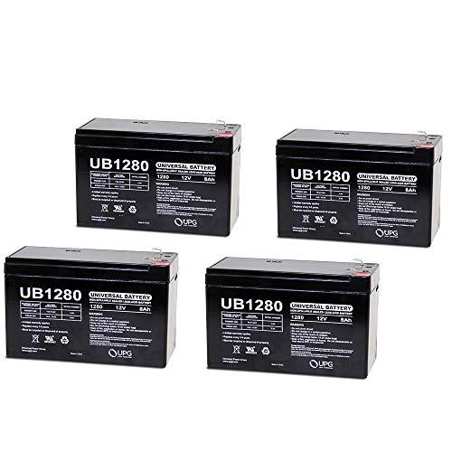 Universal Power Group 12V 8Ah Battery Replacement for Altronix AL400ULPD8, AL400ULPD4CB - 4 Pack