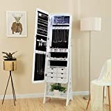 SONGMICS Jewelry Cabinet with LED Lights and