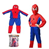 SODIAL(TM) Children Spiderman Outfit Costume Fancy Dress Party
