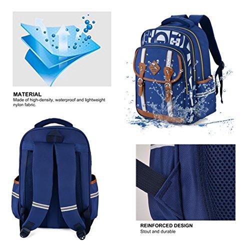 Backpack Kid,Bageek School Bags Backpacks for School Bookbag Rucksack Backpack Waterproof Backpack(blue) by Bageek (Image #2)