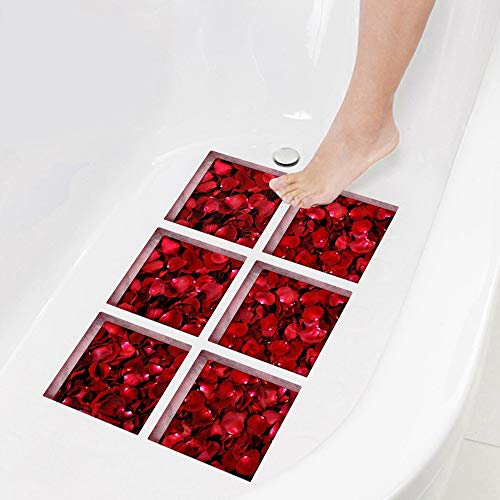 YSDDM Bathroom mat 3D Anti Slip Bathtub Stickers Rose Waterproof Tub Decals Appliques for Tile Floor Wall Bath Mats Bathroom Self Adhesive-in Bath Mats from Home & Garden from YSDDM