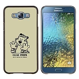 LECELL--Funda protectora / Cubierta / Piel For Samsung Galaxy E7 E700 -- Cálmate --