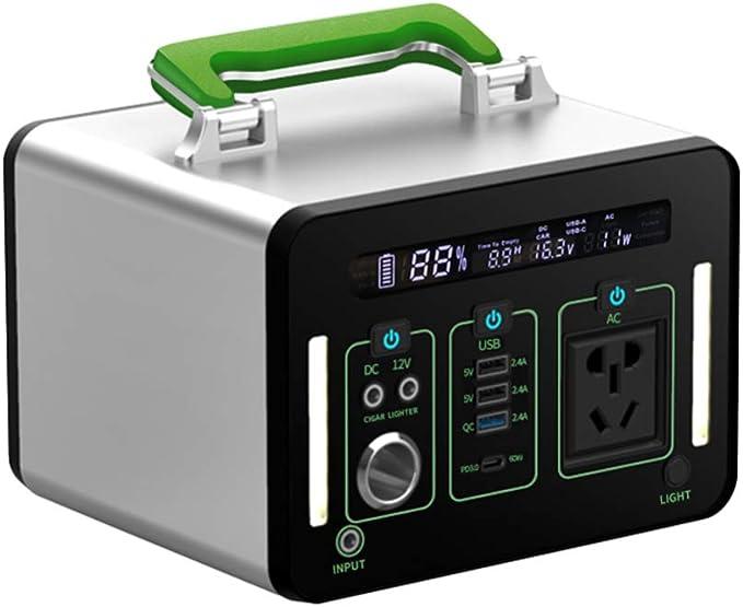 Generador Solar portátil con AC/DC Inverter, 135200mAh 500Wh Almacenamiento Suministro de Energía, Portátil Generador de Camping 500W Salida para Viajes, Picnics, Acampada Eléctrico