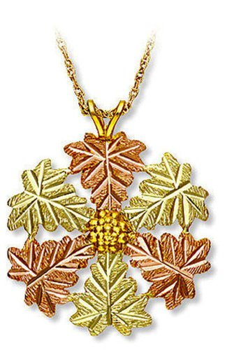 Landstroms 10k Black Hills Gold Snowflake Pendant Necklace, 18