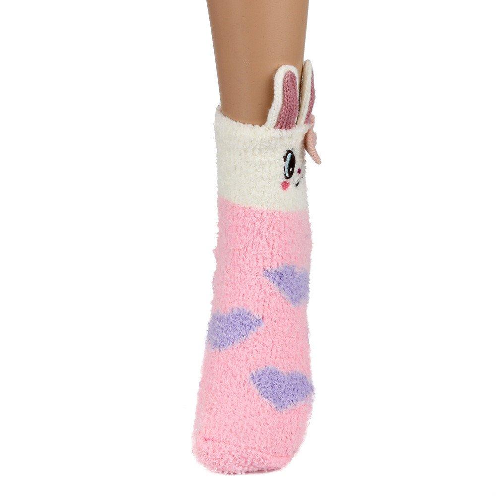 Child Cartoon Cute Christmas Short Socks Coral Velvet Embroidered Winter Warm Ankle Socks Hanican