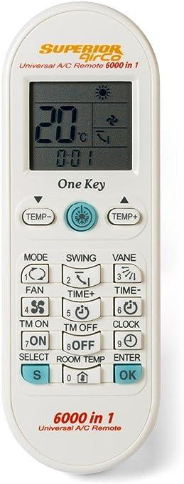 Mando a Distancia Universal para Aire Acondicionado Superior 6000 en 1: Amazon.es: Electrónica