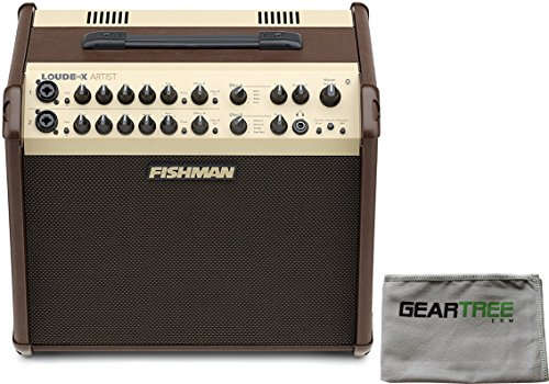 Fishman PRO-LBX-600 Loudbox Artist Acoustic Guitar Amp w/ Polish Cloth and Footswitch