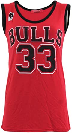 Mujer Jersey sin Mangas Miami Toros 33, Calor 6 Baloncesto Chaleco Top Bulls 33-Rot (Red) Medium/Large 40/42 EU: Amazon.es: Ropa y accesorios